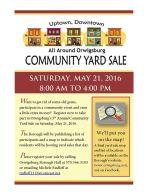 5-21-2016, Orwigsburg Community Yard Sale, Orwigsburg