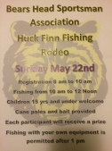 5-22-2016, Huck Finn Fishing Rodeo, Bears Head Sportsman Association, Delano