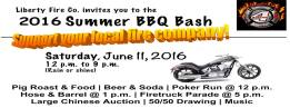 6-11-2016, Summer BBQ, Liberty Fire Company, Schuylkill Haven