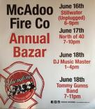 6-16, 17, 18-2016, Annual Bazaar, McAdoo Fire Company, McAdoo