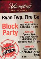 6-2-4-2016, Block Party, Ryan Township Fire Company, Barnesville