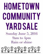 6-5-2016, Hometown Community Yard Sale, Hometown (2)