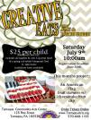 7-9-2016, Creative Eats, Child's American flag fruit skewers, Tamaqua Community Arts Center, Tamaqua