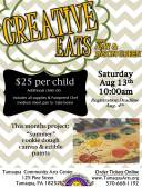 8-13-2016, Creative Eats, Summer cookie dough canvas, Tamaqua Community Arts Center, Tamaqua