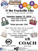 8-13-2016, Designer Bag Bingo, Elks Lodge, Frackville