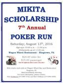 8-13-2016, Mikita Scholarship Poker Run, Wagon Wheel Restaurant, Ringtown