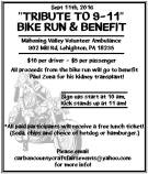 9-11-2016, Bike Run and Benefit, Mahoning Valley Volunteer Ambulance, Lehighton