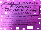9-24-2016, Raymond The Amish Comic, Coaldale Fire Company, Coaldale
