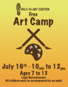 7-16-2016, Free Art Camp, Ages 7 to 13, at Walk In Art Center, Schuylkill Haven