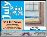 7-20-2016, Paint & Sip, Summer View, w Art n' Vino, at Tamaqua Community Arts Center, Tamaqua