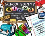 8-12-2016, School Supply Bingo, Tamaqua Community Arts Center, Tamaqua