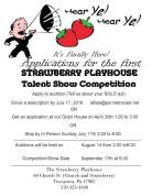 8-14-2016, Auditions for Talent Show, Must Apply Early, Strawberry Playhouse, Tuscarora