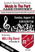 8-14-2016, Music In The Park Jazz Concert, Kennedy Park, Lansford