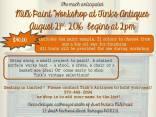 8-21-2016, Milk Paint Workshop, at Tink's Antiques, Tamaqua