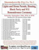 9-10-2016, Block Party, Parade, Sept 11 Remembrance, Shoemakersville Fire Company, Shoemakersville