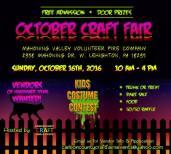 10-16-2016, October Craft Fair, Mahoning Valley Volunteer Fire Company, Lehighton