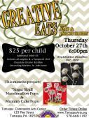 10-27-2016, Creative Eats, Sugar Skull Marshmallow Pops and Mummy Cake Pops, Tamaqua Comm Arts Center, Tamaqua