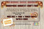 11-6-2016, Homemade Harvey Craft Fair, Mahoning Valley Volunteer Fire Company, Lehighton