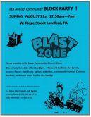 8-21-2016, Community Block Party, West Ridge Street, Lansford
