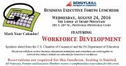 8-24-2016, Business Executive Forum Luncheon, via Schuylkill Chamber, at Lodge at Sharp Mountain, Pottsville