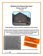 8-25-2016, Open House, Weatherly Area Museum, Weatherly
