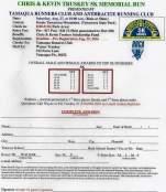 8-27-2016, Chris and Kevin Truskey 5K Memorial Run, Tuscarora State Park, Barnesville