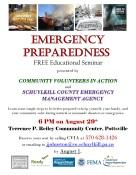 8-29-2016, Emergency Preparedness, Free Education Seminar, at Terrence Reiley Community Center, Pottsville