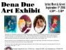 9-1-2016, Dena Due Art Exhibit, Tamaqua Community Arts Center, Tamaqua