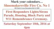 9-10-2016, Apparatus Parade, Truck Housing, Block Party, 911 Remembrance, Shoemakersville Fire Co, Shoemakersville