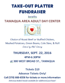 9-22-2016, Take-Out Platter Fundraiser, Tamaqua Area Adult Day Care Center, Tamaqua