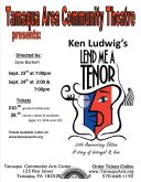 9-23, 24-2016, Ken Ludwig's, Lend Me A Tenor, Tamaqua Community Arts Center, Tamaqua