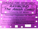 9-24-2016, Raymond The Amish Comic, Coaldale Fire Company, Coaldale