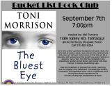 9-7-2016, Bucket List Club, Toni Morrison - The Bluest Eyes, 1389 Valley Road, Tamaqua