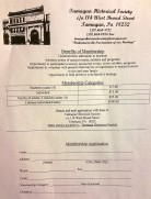Tamaqua Historical Society Membership Application