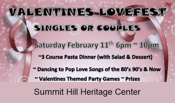 2 11 2017 valentines lovefest singles or couples dinner party heritage center summit hill