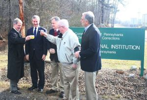 Local state officials celebrate the announcement with boilo. Photo courtesy David Truskowsky