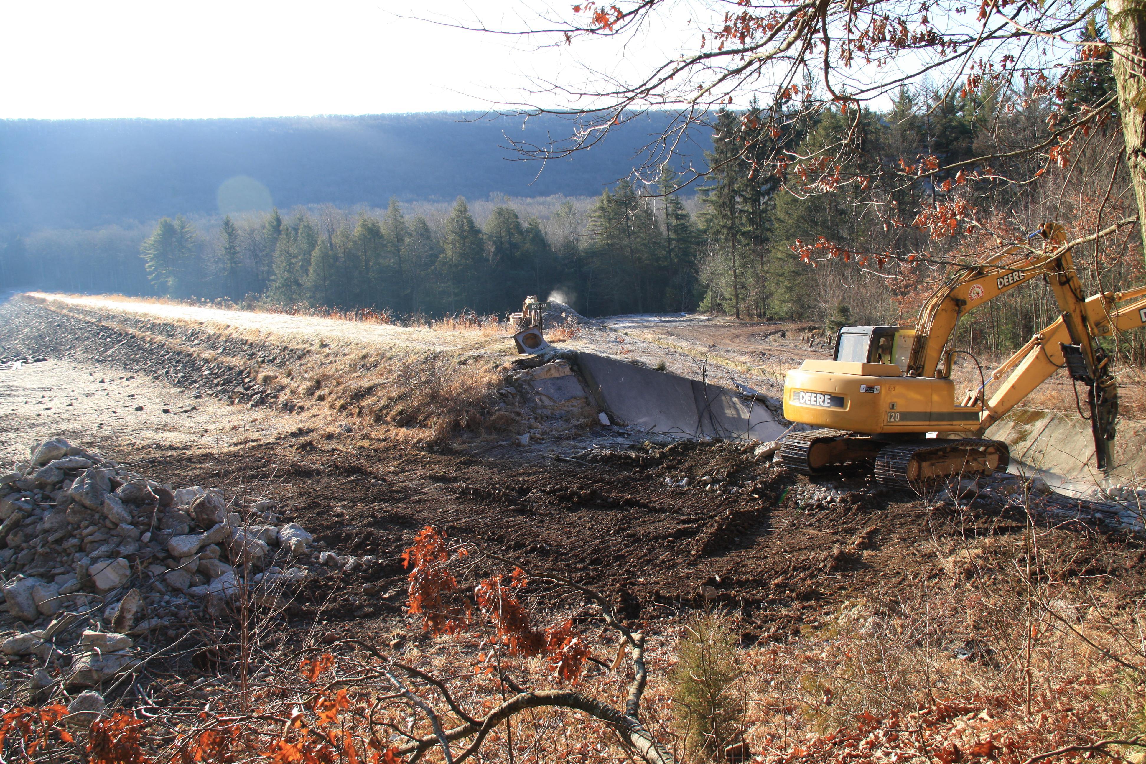FIVE YEARS AGO: Upper Owl Creek Dam rehab work underway