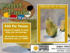 2-18-2017-paint-with-paula-beginner-watercolor-community-art-center-tamaqua