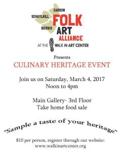 3-4-2017-culinary-heritage-event-via-folk-art-alliance-at-walk-in-art-center-schuylkill-haven