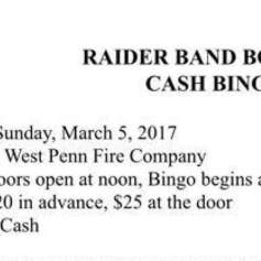3-5-2017-raider-band-booster-cash-bingo-at-west-penn-fire-company-west-penn