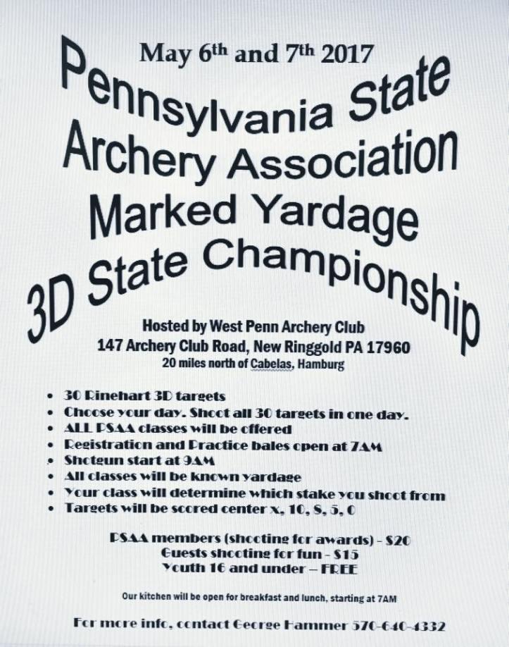 5-6-7-2017-pa-state-archery-marked-yardage-3d-state-championship-wp-archery-club-west-penn