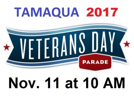 11-11-2017, Tamaqua Veterans Day Parade, via American Legion, Tamaqua