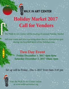 12-1, 2-2017, Holiday Market, Two-Day Event, at Walk In Art Center, Schuylkill Haven`
