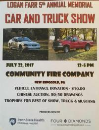 7-22-2017, Logan Farr Memorial Car and Truck Show, New Ringgold Fire Company, New Ringgold