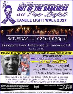 7-22-2017, Out Of The Darkness Into The Light Candlelight Walk, Bungalow Park to East End, Tamaqua