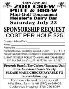7-22-2017, Zoo Crew Putt and Brew, Mini Golf, at Heislers, Tamaqua (2)
