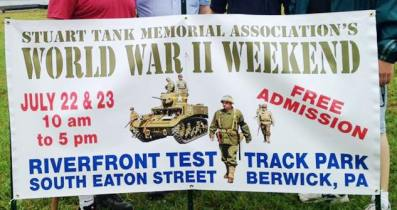7-22, 23-2017, Stuart Tank Memorial Association's WWII Weekend, at Berwick's Test Track Park, Berwick