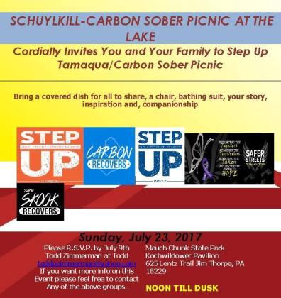7-23-2017, Schuylkill Carbon Sober Picnic, Mauch Chunk Lake, Jim Thorpe
