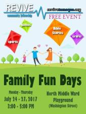 7-24, 25, 26, 27-2017, Family Fun Days, North & Middle Ward Playground, Tamaqua