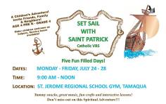 7-24, 25, 26, 27, 28-2017, Set Sail with Saint Patrick VBS, at St Jerome Regional School, Tamaqua